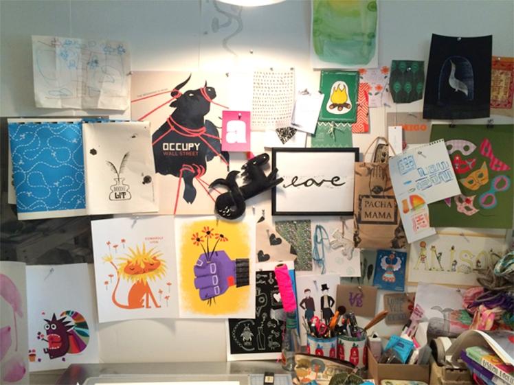 Alison Oliver studio_wall